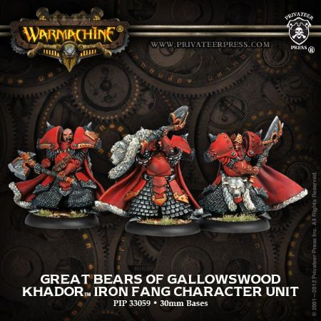 Khador Great Bears of Gallowswood (3)